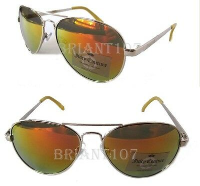 9ae9e02fe98 NWT Juicy Couture Womens Sunglasses AJCN 15012Z Silver Mirror-tiny scratch