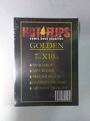 100-Comic Book Golden Backing Boards-Free Shipping!