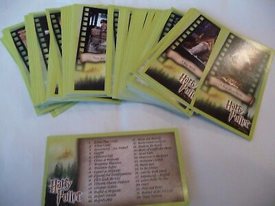 Harry Potter And The  Sourcerers Stone wide vision Base card set 80 + index card