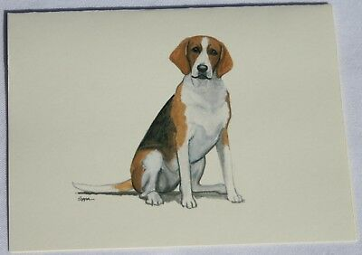 American Foxhound Dog Zeppa Studios Fur Children Note Cards Set of 8