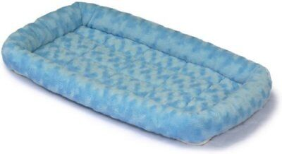 Pack of 6 MidWest Deluxe Bolster Pet Bed for Dogs & Cats, Powder Blue Plush
