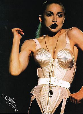 "MADONNA LOUISE CICCONE - 11"" x 8"" MAGAZINE POSTER PINUP - year 1990"