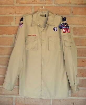 Boy Scout Uniform Long Sleeve Centennial SHIRT Adult Large Northern Star Council