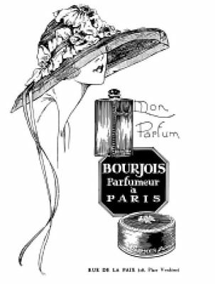 Vintage French Paris Perfume Labels Furniture Transfers Waterslide Decals MIS631