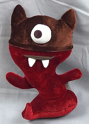 Starbucks 2006 Halloween Pal Plush One Eye Red Monster Fangs & Horns stuffed
