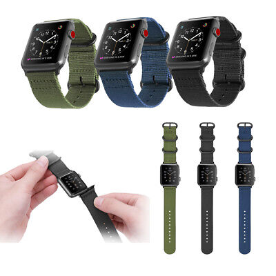 For Apple Watch Series 3/2/1 42mm Nylon Woven Wrist Band Sport Strap Replacement