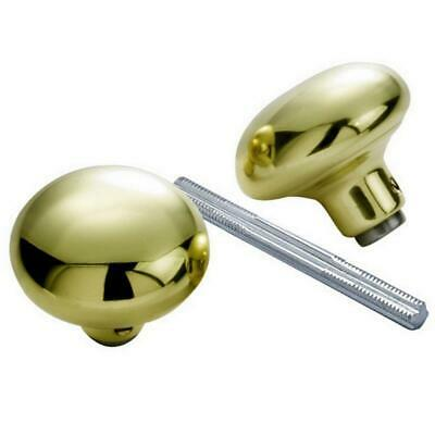 Hickory 1130 Solid Brass Replacement Door Knobs & Square Spindle, Polished Brass