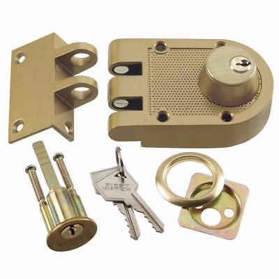 Hickory #1125 Double-Cylinder Brass Interlocking Deadbolt, Keyed Entry Door Lock