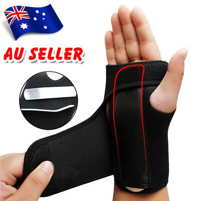 Steel Wrist Support Splint Carpal Tunnel Syndrome Sprain Strain Bandage Brace AU