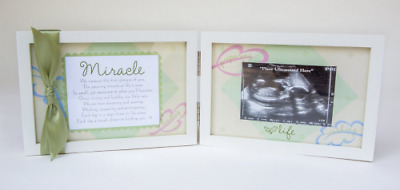 The Grandparent Gift Co. Miracle Ultrasound Frame 4x6 double white hinged frame