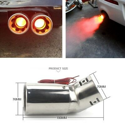 Car Stainless Steel Spray Device Light Tail Throat Exhaust Leds Modified Flame