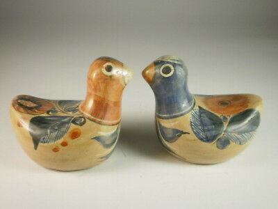 Mexican Small Birds Figurines X 2