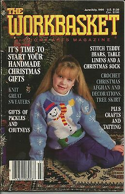 Vintage Workbasket June/July 1990 Issue Mixed Crafts Magazine Patterns Included