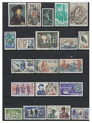France - 1969/70, 20 x different stamps - F/U