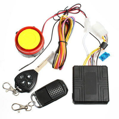 Motorcycle Bike Anti-theft Alarm Security System Remote Control Engine Start