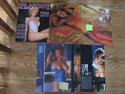 Fiona Gelin Lingerie Nude Vintage Print Ads,clippings 1983