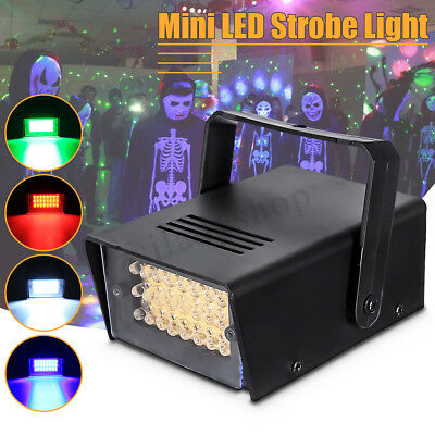 24 LED Mini Christmas Strobe Light DJ Disco Party Club Flash Bar Stage Lighting