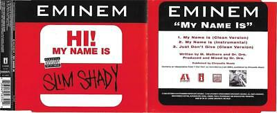 Eminem - My Name Is - 3 Track Cd Single - 1999 Aftermath