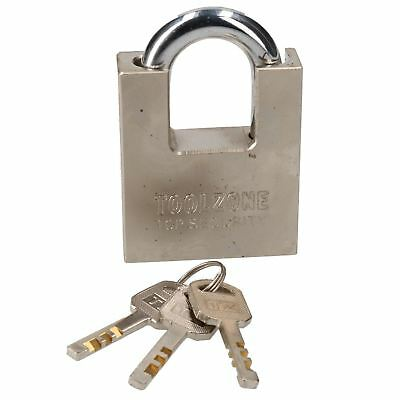 60mm Security Padlock Shed Gate Lock 3 Keys 35mm Shank Brass Core Security