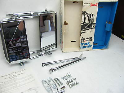 """NOS Vintage Yankee JR West Coast Stainless & Chrome Side Mirrors 10 """"x 5"""""""
