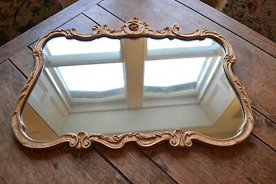 VINTAGE 1940s ATSONEA ART DECO REGENCY STYLE GOLD ENGLISH MADE GLASS MIRROR