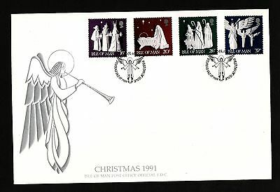 1991 Isle of Man, Christmas, First Day Cover