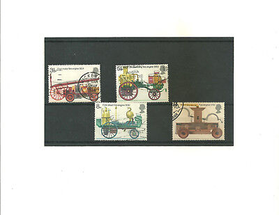 GB 1974 Fire Prevention     set of 4 used stamps