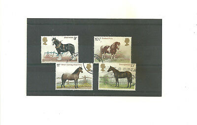 GB 1978 Horses        set of 4 used stamps
