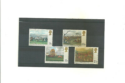 GB 1979 Horse Racing paintings        set of 4 used stamps