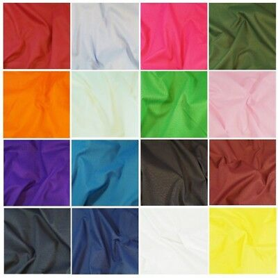Plain Polycotton Sheeting Fabric 240cm Wide Plain Bed Material Extra Wide