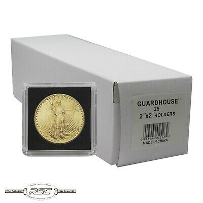 25 - Guardhouse 2x2 Tetra Snaplocks Coin Holders for 1-Oz American Gold Eagle