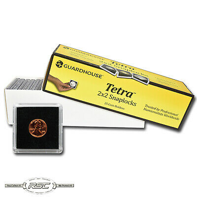 25 - Guardhouse 2x2 Tetra Plastic Snaplocks Coin Holders for Penny / Cents