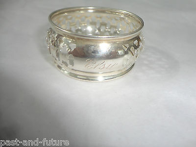 """Sterling Napkin Ring Engraved Name Of Elsie, 7/8"""" By 1 3/4"""" , Pierced"""