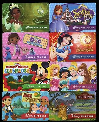 Disney Collectible Gift Card (NCV) Clubhouse Jake Sofia Princess McStuffins!