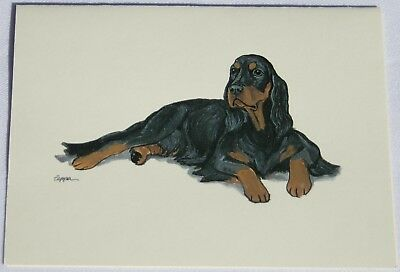 Gordon Setter Dog Zeppa Studios Fur Children Note Cards Set of 8