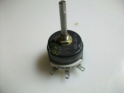 "Dejur  15  Ohm  25 Watt  Rheostat  1 1/2"" Shaft"