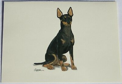 Toy Manchester Terrier Dog Zeppa Studios Fur Children Note Cards Set of 8