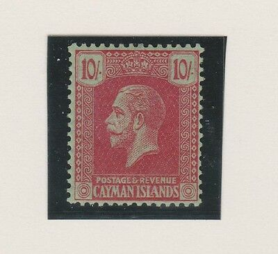 CAYMAN ISLANDS 68 KGV 10sh 1921-22 NH