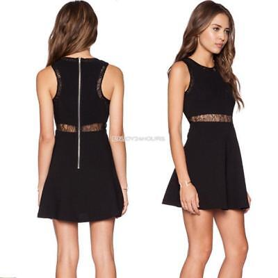 Stylish Ladies Women Sexy Sleeveless High Waist Hollow Out Slim Casual EN24H