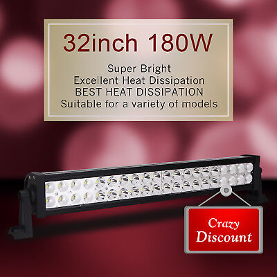 """32 inch 180W LED Light Bar Work Offroad Fog Driving Combo Truck ATV Jeep 30"""" 34"""""""