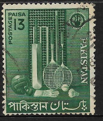 PAKISTAN 1962 INDUSTRIES SPORTS GOODS Cricket Squash Badminton 1v USED (No 1)