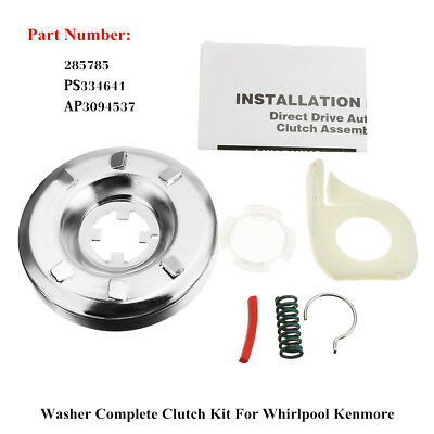 Washer Clutch Kit Assembly Set 285785 PS334641 AP3094537 For Whirlpool Kenmore