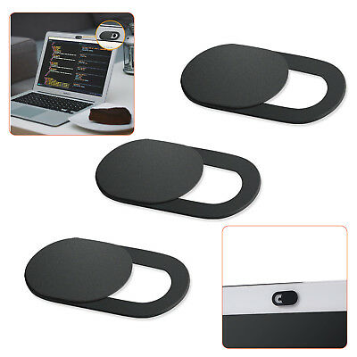 3 Pack Webcam Cover Web Camera Privacy Blocker Computer 0.026in Ultra-Thin Black