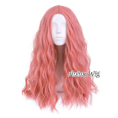 Harajuku Lolita 65cm Long Curly Pink Party Cosplay Full Wig+Wig Cap