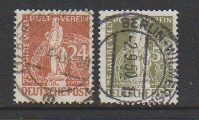 Germany (Berlin) - 1949, 24pf & 50pf UPU stamps - Used - SG B56/7