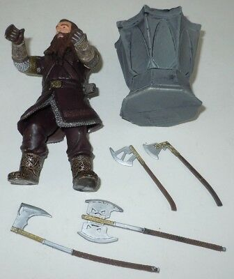 Gimli Battle Axe Swinging Action Figure Lord of the Rings LotR Fellowship Movie