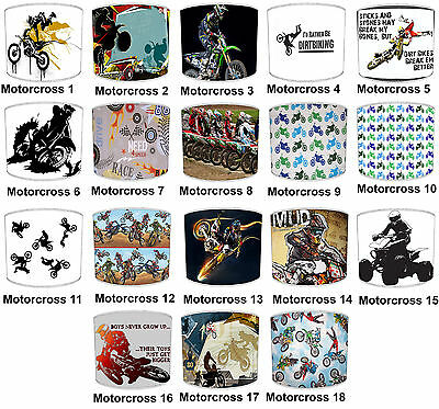 Lampshades Ideal Match Motocross, Dirt Bikes & Scrambler Bikes Cushion Covers.