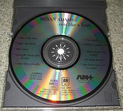 BRYAN ADAMS Japan ORIGINAL 1983 issue CD Cuts Like A Knife 38XB-21 others listed