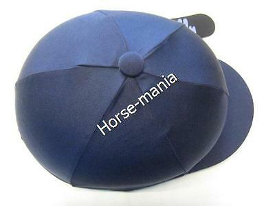 Hy Navy Blue Riding Hat Silk Cover For Jockey Skull Caps One Size