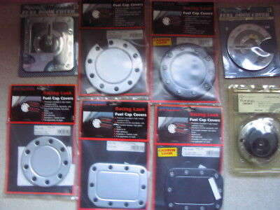 Job lot of 8 car fuel flap covers, styling,See discription for list